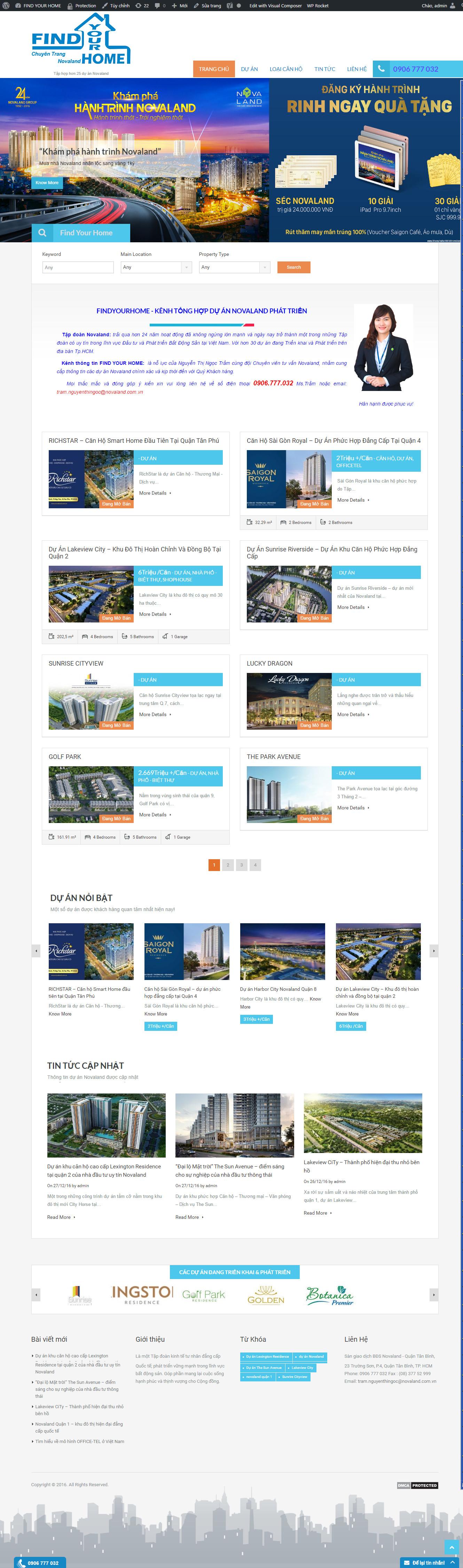 Mẫu Website Nhà Đất Đẹp, Kết Hợp Thương Mại Điện Tử