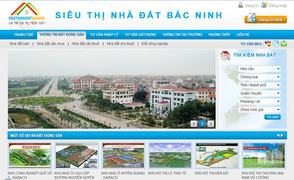 Mẫu Website Nhà Đất Đẹp