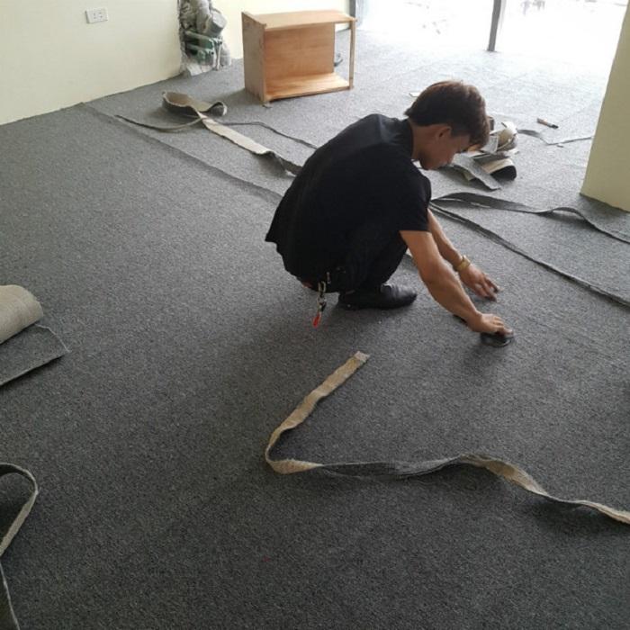 Chi tiết các bước thi công thảm văn phòng dễ thực hiện