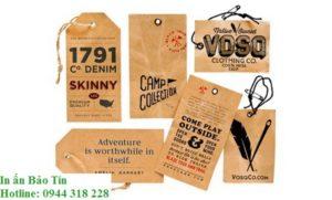 Tăng độ uy tín khi thẻ treo có đầy đủ thông tin của nhà sản xuất và các lưu ý khi sử dụng sản phẩm