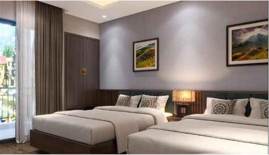 Nội thất khách sạn phòng ngủ đôi