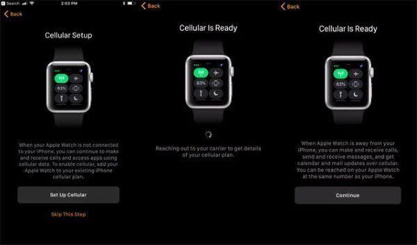Cách thiết lập Apple Watch series 3