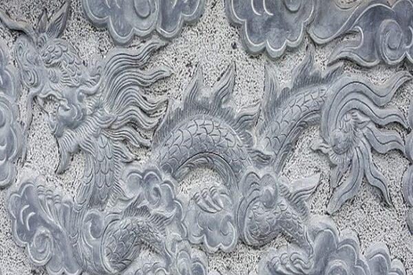 Hoa văn rồng lăng mộ đá
