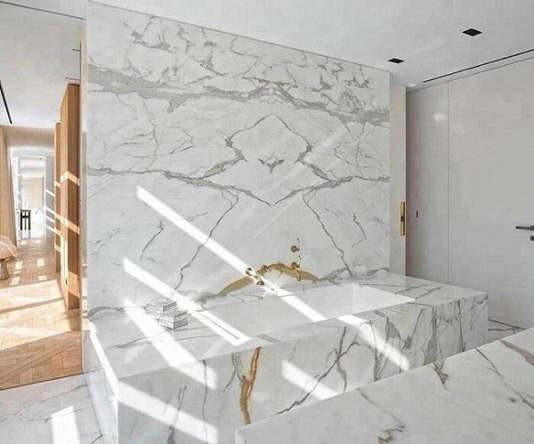 đá marble lát bếp