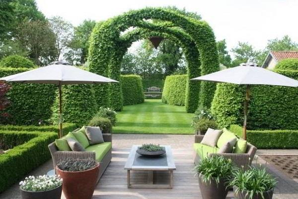 Thiết kế sân vườn biệt thự theo phong cách Châu Âu