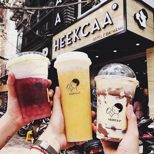 mẫu biển quảng cáo đẹp cho quán trà sữa Heekcaa