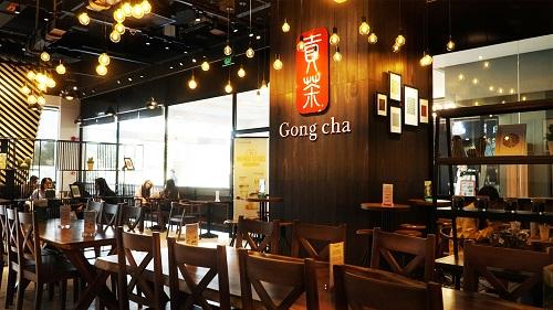 Logo và tên thương hiệu Trà sữa Goong Cha