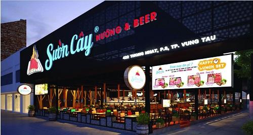 Mẫu Biển quảng cáo nhà hàng Sườn Cây