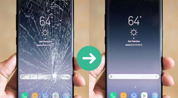 Màn hình Samsung bị bể do rơi vỡ hoặc va đập