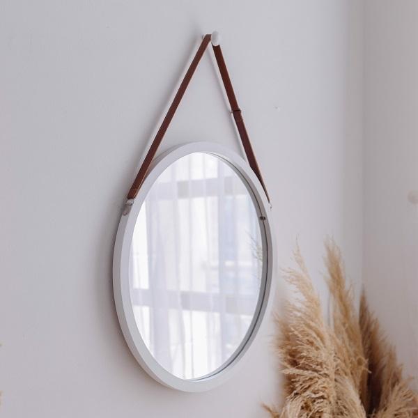 Gương trang điểm treo tường Mirror Circle màu trắng