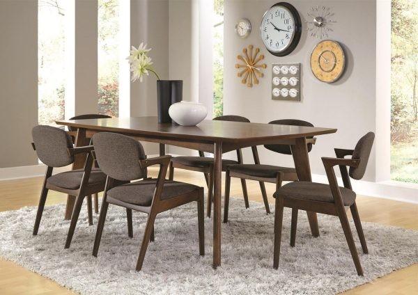 Bàn ăn xoan đào 6 ghế với thiết kế hiện đại