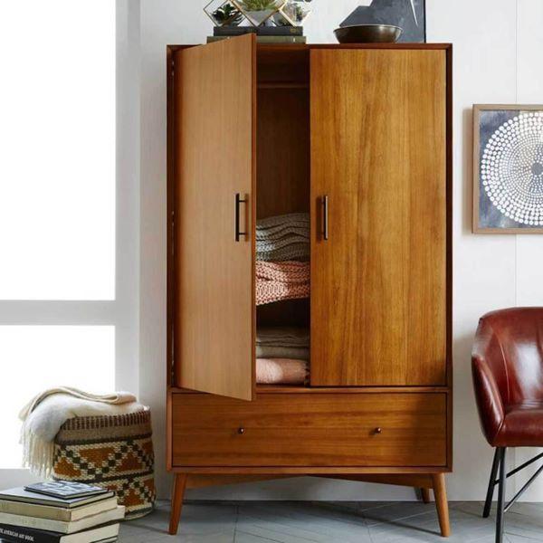 ủ quần áo gỗ tự nhiên chân cao gisp bạn dễ dàng vệ sinh hơn