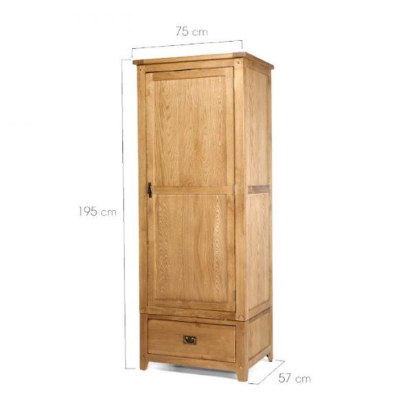 Kích thước tủ nhỏ gọn thích hợp để đặt ở nhiều vị trí trong nhà