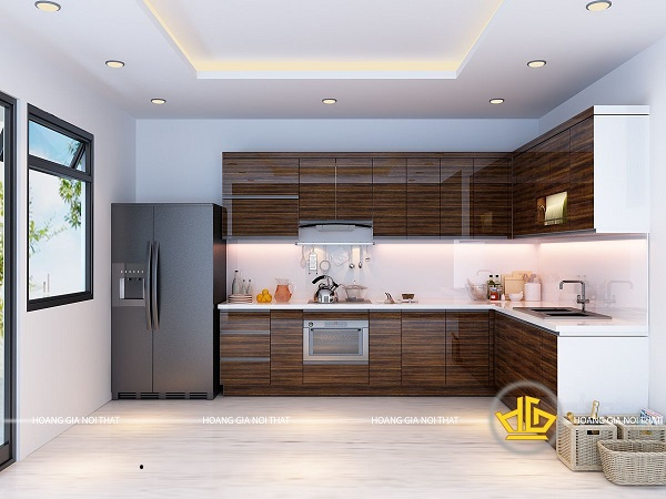 Tủ bếp gỗ cẩm lai được khách hàng ưa chuộng