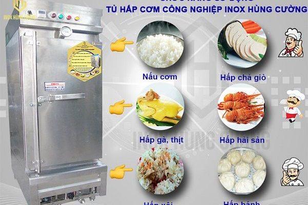 Những tính năng của tủ nấu cơm công nghiệp.